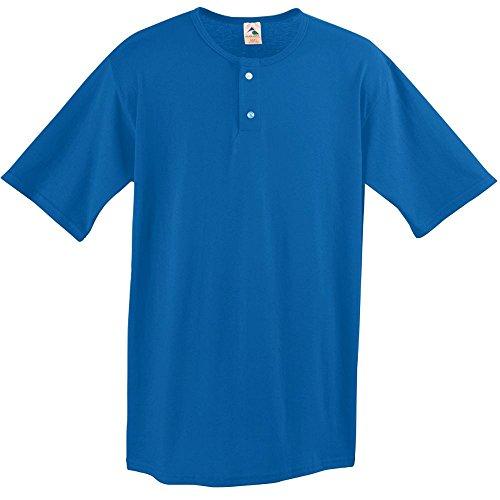 Augusta Sportswear MEN'S TWO-BUTTON BASEBALL JERSEY 4XL Royal