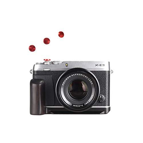WEPOTO GP-XE3メタルブラケットカメラ木製ハンドグリップハンドルL-ブラケット富士X-E3に適用される