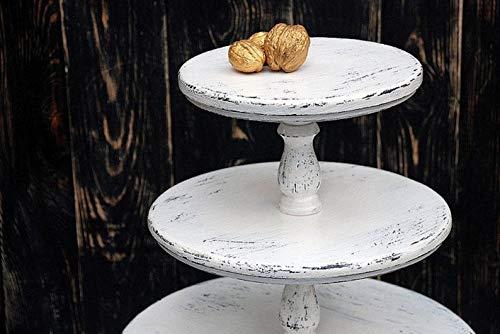 ALL SIZES 3-tiered White Wedding Cupcake stand,wooden cake stand,wood cake stand,Bridal Showers,rustic cake stand,wedding decor,cake holder