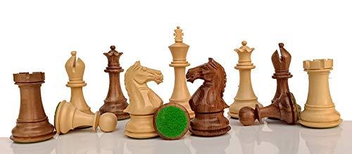 Desconocido Generic Piezas de ajedrez Staunton Hechas a Mano con 2 Reinas adicionales - Palo de Rosa Dorado con Peso de Caballero Feroz de 3.5  '| Juego de ajedrez único