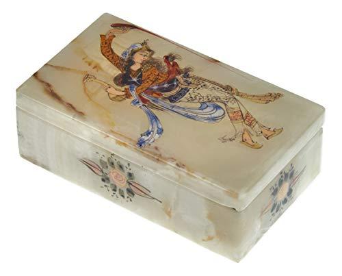 LPUK Scatola di gioielli serie 3 the queen of dance squisita persiana Scatola di gioielli in marmo con la pittura artistica 4 × 7 × 12