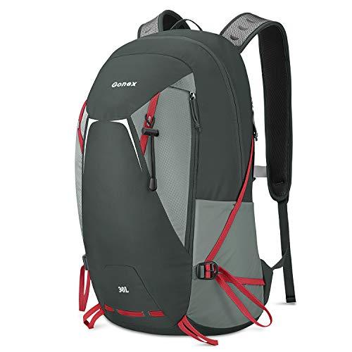 Gonex 30L Hiking Backpack,Waterproof Backpack Lightweight Travel Backpack for Outdoor Camping