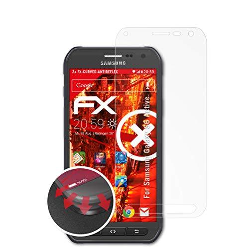 atFolix Schutzfolie kompatibel mit Samsung Galaxy S6 Active Folie, entspiegelnde & Flexible FX Bildschirmschutzfolie (3X)