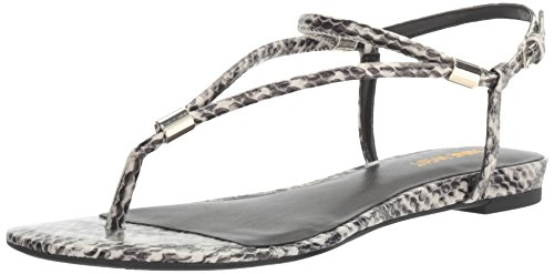 NINE WEST Women's Rivers Synthetic Dress Sandal, Off White, 7 M US