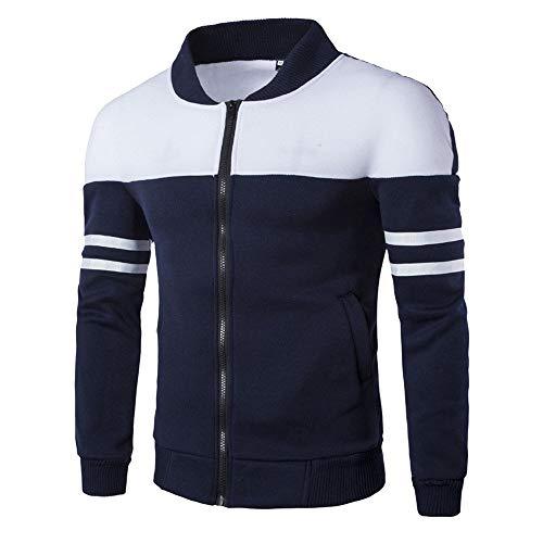 BaZhaHei Herren Strickjacke Mode für Männer Herbst Winter Reißverschluss Sportbekleidung Patchwork Jacke Langarm Mantel Outwear Sweatshirt Strickmantel Strickpullover
