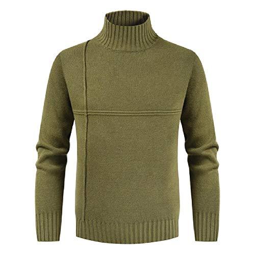 U/A - Suéter de cuello alto para hombre Verde verde M