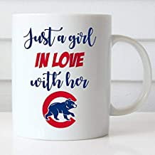 Chicago Cubs 11 Oz Coffee Mug Just a Girl in Love with Her Cubs GO Cubs GO 11 Oz Coffee Mug Fly The W Cubs Fan