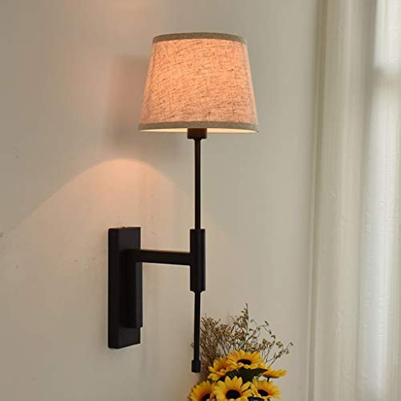 Nordic American Nachttischlampe Modern Fashion Einfache Bettwsche Wandleuchte Schlafzimmer Gang Balkon Engineering Lichter A+ (Farbe  Schwarz)