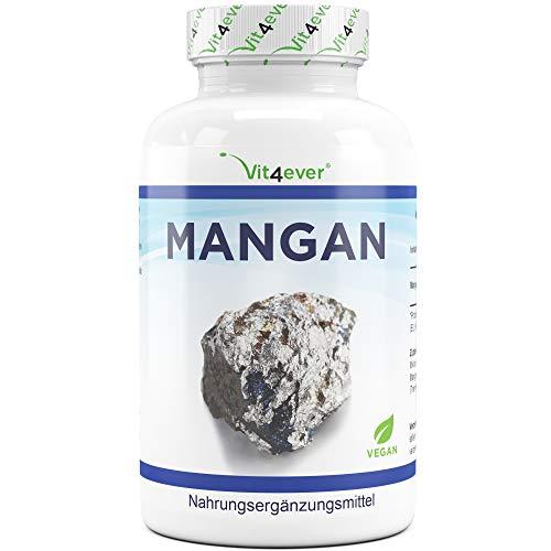 Vit4ever® Mangan 10 mg - 240 Tabletten - 8 Monatsvorrat - Laborgeprüft - Mangan-Bisglycinat - Vegan - essentielles Spurenelement - Manganese