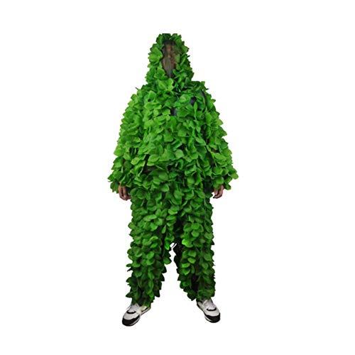 WZHCLOTHING Dschungelgrünes Blatt-Tarnungs-Tarnungs-Anzug Bionischer Tarnungs-Anzug Für Fotografie Vogelbeobachtung Bergsteigen Kampierender Tarnungs-Anzug Multi Farbe Wahlweise Freigestellt