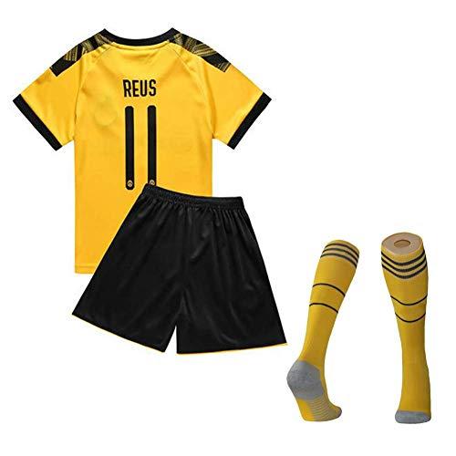 BAOZAI Fußballfan-Trikot Kinder-Reus-Fan-Set, 19-20 Heim- und Auswärtstrikot-Uniform Nr. 11, Fußball-Trainingslager-Trikot (22)