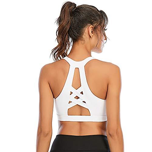 Conjunto de ropa de gimnasio para mujer Sujetadores deportivos de alto impacto con espalda cruzada Sujetador para correr sexy para correr Deporte Fitness Yoga C,M