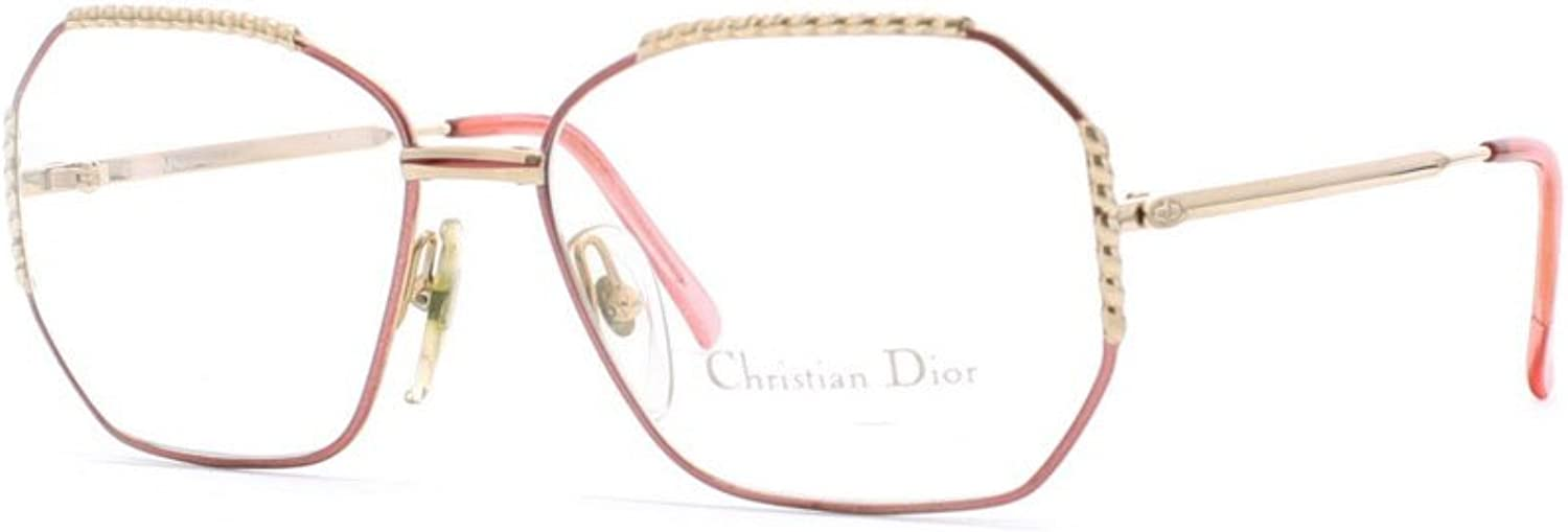 Christian Dior 2486 43 gold and Pink Authentic Women Vintage Eyeglasses Frame