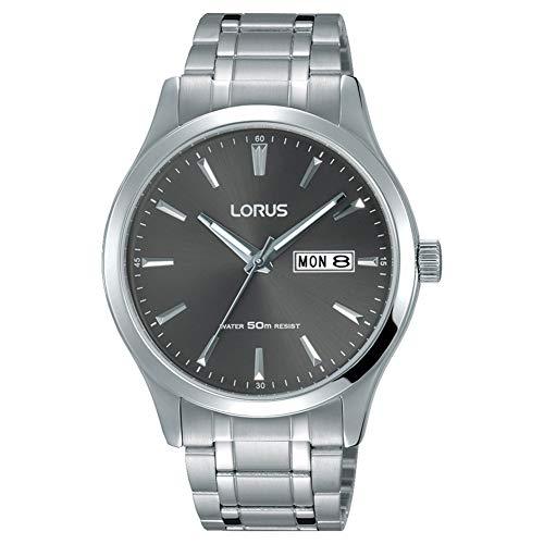 Lorus RXN35DX9 heren heren roestvrij staal grijze wijzerplaat armband polshorloge