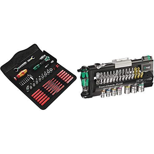 Wera 05135926001 KK W 1 Kraftform Kompakt W1 Wartung, Werkzeug-Set, 35-teilig, Schwarz, Stück & Bit-Sortiment, Tool-Check PLUS, 39-teilig, 05056490001