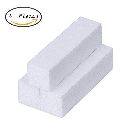 Hosaire 3 Piezas Bloque Lijado Blanco Lima Esponja