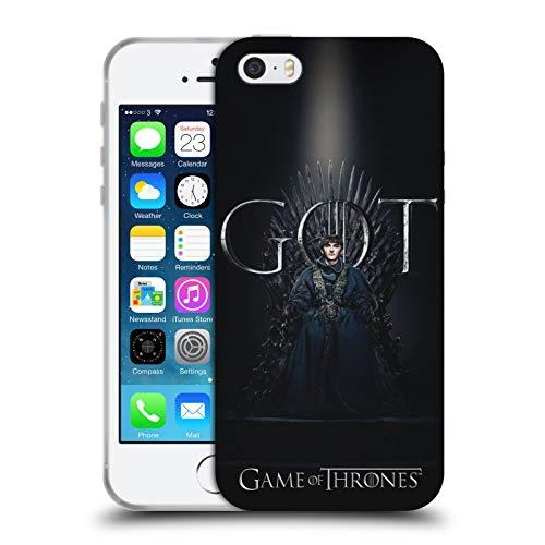 Officiële HBO Game of Thrones zemelen Stark Seizoen 8 voor de troon 1 Soft Gel Case Compatibel voor Apple iPhone 5 / iPhone 5s / iPhone SE 2016