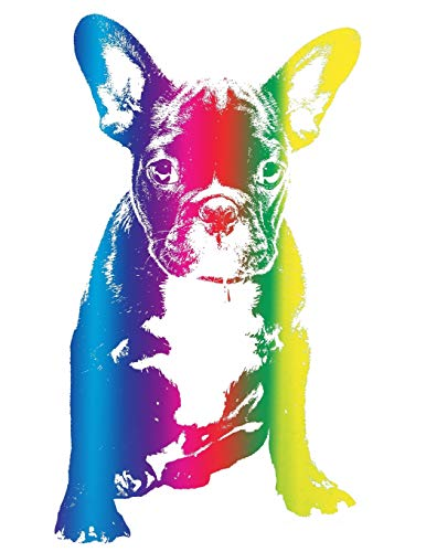 Rainbow French Bulldog Notebook: Frenchie Composition Book Journal Diary for French Bulldog Lovers to Write in - Cool Multicolor Dog Notepad Animal ... Gay Pride (8.5 x 11 - 120 Pages - Wide Ruled)