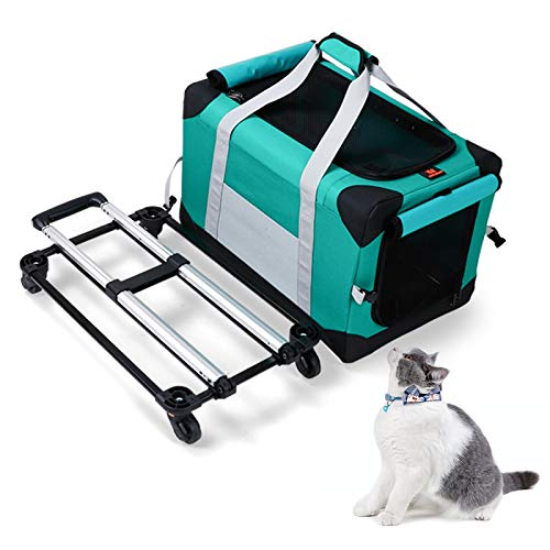 Stoge Portable Pet Trolley Bag Large Capacity 15kg Bearing Transformed Adjustable Detachable Pet Trolley Bag Expandable Carrying Dog Cat House