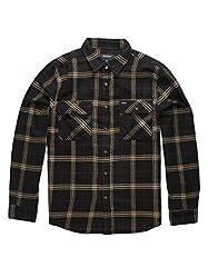 Standard fit Two chest pockets Standard shirttail hem Adjustable sleeve cuffs Woven Brixton label at pocket