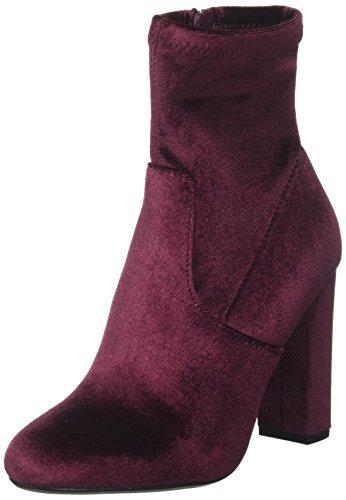 Steve Madden Damen stiefeletten, Rot (Burgundy Velvet), 39(8.5 UK)