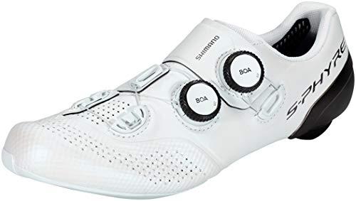 Shimano S-PHYRE RC9 (RC902) SPD-SL Zapatos, Blanco, Talla 41