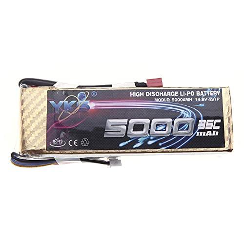 WANGYOUCAO Batería de lipo YKS de Alta Potencia 14,8 V 5000 mah 35C MAX 50C Enchufe T para dji F550 S800 RC Coche Barco avión multirotor Parte