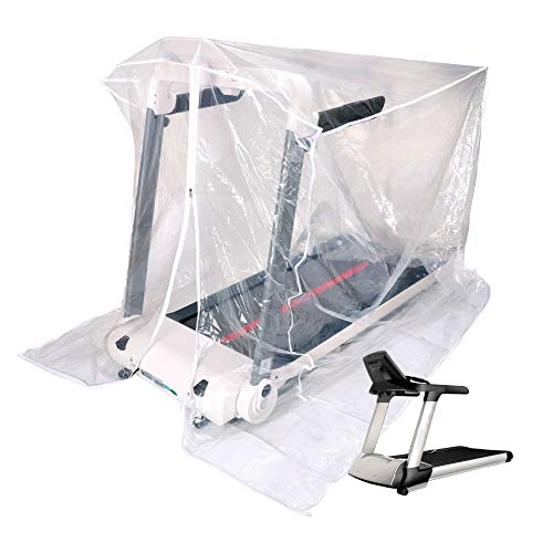 """Elliptical Cover Waterproof Outdoor,JURONG Folding Treadmill Cover for Elliptical Machine and Exercise Bikes Running Machine,Cover Treadmills for Home or Outside-46""""X38""""X66""""(Transparent)"""