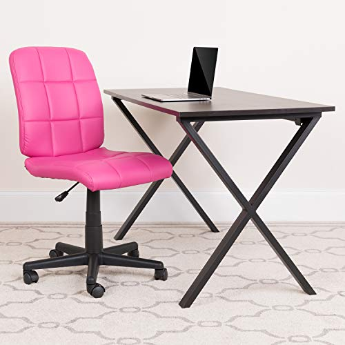 Flash Furniture Mid-Back Pink Quilted Vinyl Swivel Task Office...