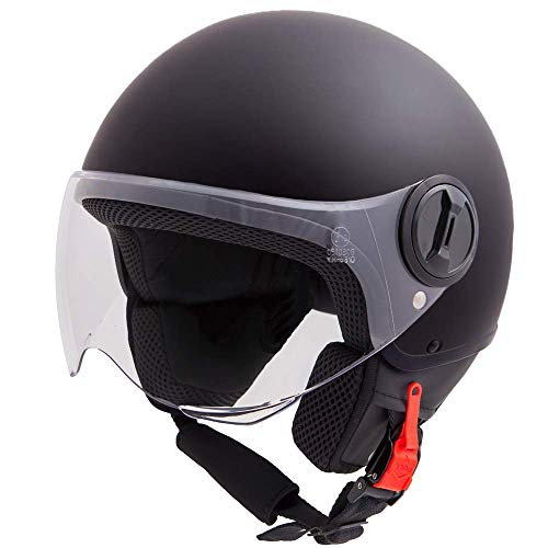 Vinz Sole Roller Helm Jethelm Fashionhelm | in Gr. XS-XL | Jet Helm mit Visier | ECE zertifiziert |...