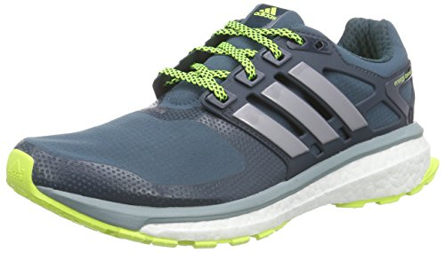 adidas Performance Energy Boost 2.0 ATR, Zapatillas de Running Hombre, Verde Viridian F15 Tech Silver Met F13 Solar Yellow, 46 2/3 EU