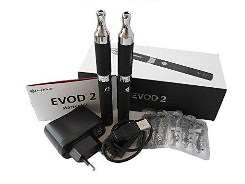 EVOD 2 BDCC Kanger doppel Starterset KangerTech Dual Coil 1,5 Ohm, e-Zigarette (schwarz)