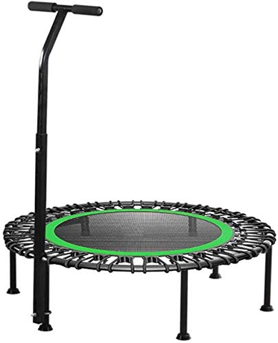 genneric 40' Fitness Silent Mini Trampoline with Adjustable Grip Length Adults Kids Indoor Gym Rewind Bungee Jumping Trainer Training (Color : Green)