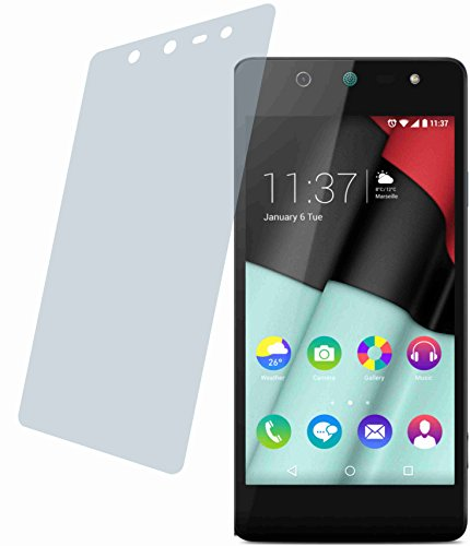 4ProTec I Wiko Selfy 4G (2 Stück) Premium Bildschirmschutzfolie Displayschutzfolie kristallklar Schutzhülle Bildschirmschutz Bildschirmfolie Folie