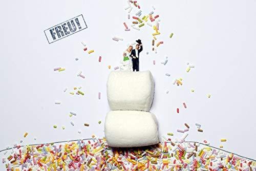 Schöne feierliche Postkarte - Einladung Hochzeit Torte Freu