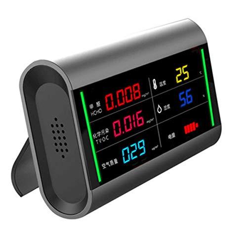 FAY Luftqualitätsdetektor, Luftqualitätssensor, Digitaler Bildschirm Wiederaufladbarer TVOC HCHO, Akustischer Alarm, Formaldehyd-Luftqualitätsdetektor