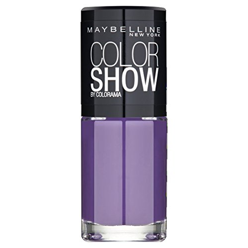 Maybelline New York Make-Up Nailpolish Color Show Nagellak/Ultra glanzende verflak in zacht bruin, 1 x 7 ml Orchidee violet