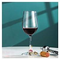 STORY 320ml美しい手描きのエナメルワイングラスクリスタルゴブレットガラスカップワインシャンパングラスギフトのためのハイエンドホームドリンクウェア (Capacity : 320ML, Color : Pink A)