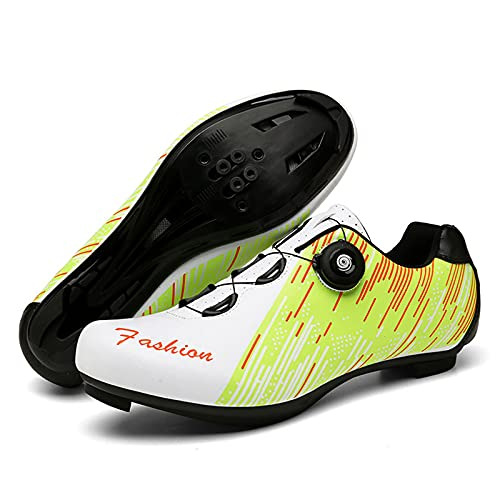 LZQpearl Hombre Calzado Ciclismo, Calzado para Montar En Bicicleta De Montaña De Carretera, Compatible con Los Tacos Delta Look SPD SPD-SL Zapatillas Spinning Peloton (46 (EU 45 2/3),B)