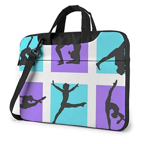 Laptop Case, Gymnastics Game Print Laptop Shoulder Bags Multi-Functional Notebook Sleeve,13-14-15.6 Inch