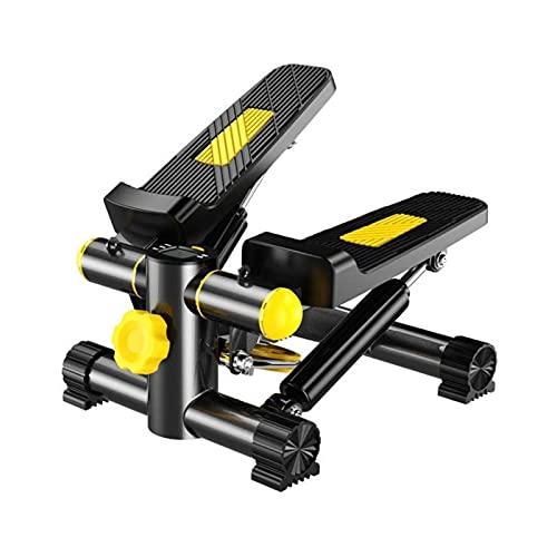 HMBB Plataformas paso Fitness ejercicio elíptica Twister paso a paso fácil debajo del escritorio del entrenamiento, pantalla digital, banda de resistencia Elíptica Burns 15% más calorías que una bicic