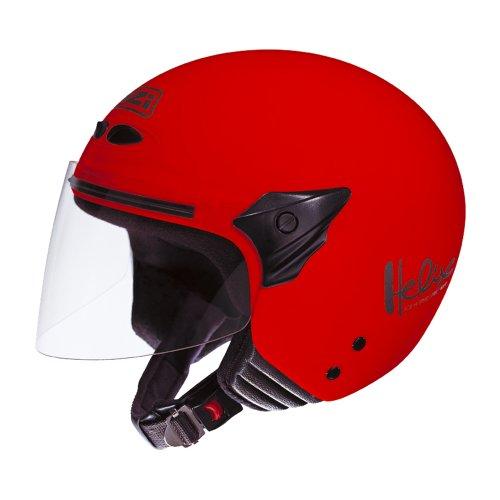NZI 050137G058 Helix II Junior Casco de Moto, Talla S, Rojo