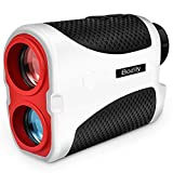 Bozily Golf Rangefinder, 6X Laser Range Finder 1000 Yards with Slope ON/Off Technology, Fast Flag-Lock, Continuous Scan Support - Tournament Legal Golf Rangefinder