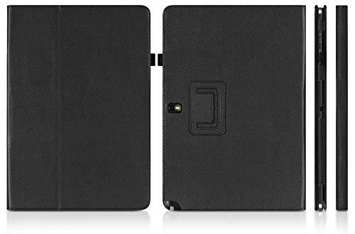 360 Funda giratoria de Cuero PU para Samsung Galaxy Note Pro 12.2 Funda para Samsumg P900 P901 P905 12.2 Soporte para Tableta Funda-Negro