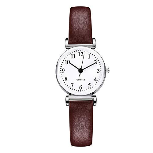 APOKIOG Reloj Analógico para Mujer de Cuarzo con Correa en Acero Inoxidable, Reloj Digital de Cuarzo
