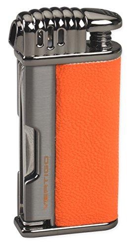 Lotus Vertigo Puffer Angled Flame Pipe Lighter w/Tamper Scraper Spike (Black)