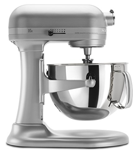 KitchenAid KP26M1XNP Professional 600 Series 6-Quart Bowl-Lift Stand Mixer, Nickel Pearl