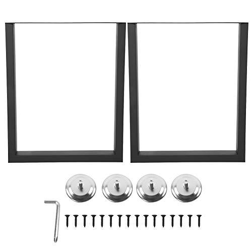 Cocoarm metalen tafelpoten, 2 stuks, tafelpoten, industrieel design, tafelonderstel voor meubelbijzettafels, eettafel, bureau, salontafel, bank, zwart, 90 x 72 cm