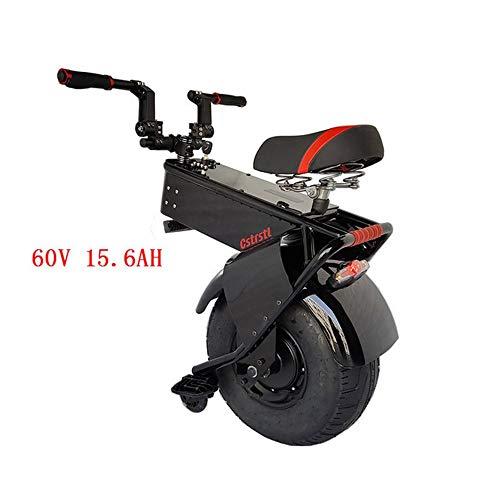 Motorized smart balance Scooter 1500W Folding Elektro-Scooter, Ein Rad Selbst Balancing Smart-Scooters Motor Elektro-Einrad Bremsanlage 550lbs Ladegewicht Mit 60V-Lithium-Batterie 2020 ( Size : 90KM )