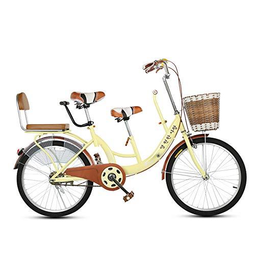 22 Zoll Eltern Kind Fahrrad Mutter Kind Fahrrad Tandem Tandem Fahrrad Geeignet Ist Mit Ihrem Baby Unterwegs,Beige